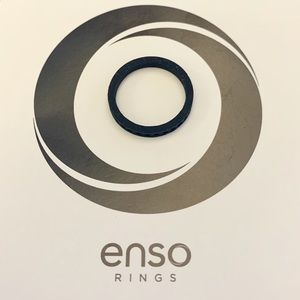 Enso Column Stackable Silicone Ring Obsidian SZ 6
